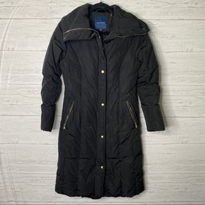 Cole haan long down hooded puffer coat